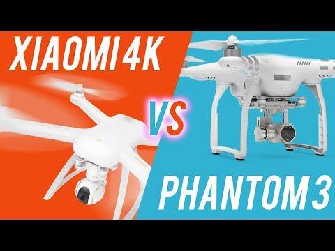 Xiaomi 4k Drone Vs DJI Phantom 3 - Cameras, Stability, Battery Etc