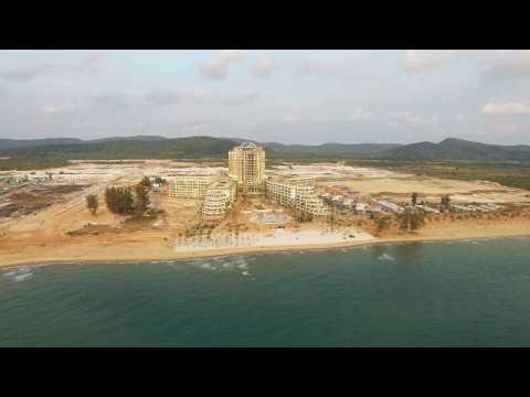 Flycam hình ảnh thực tế dự án Intercontinental Phu Quoc Long Beach Residences