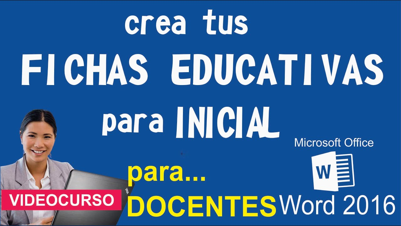 Fichas Educativas para Inicial - Word 2016 - YouTube