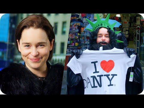 Emilia Clarke (Game of Thrones) Pranks Times Square as Jon Snow // Omaze