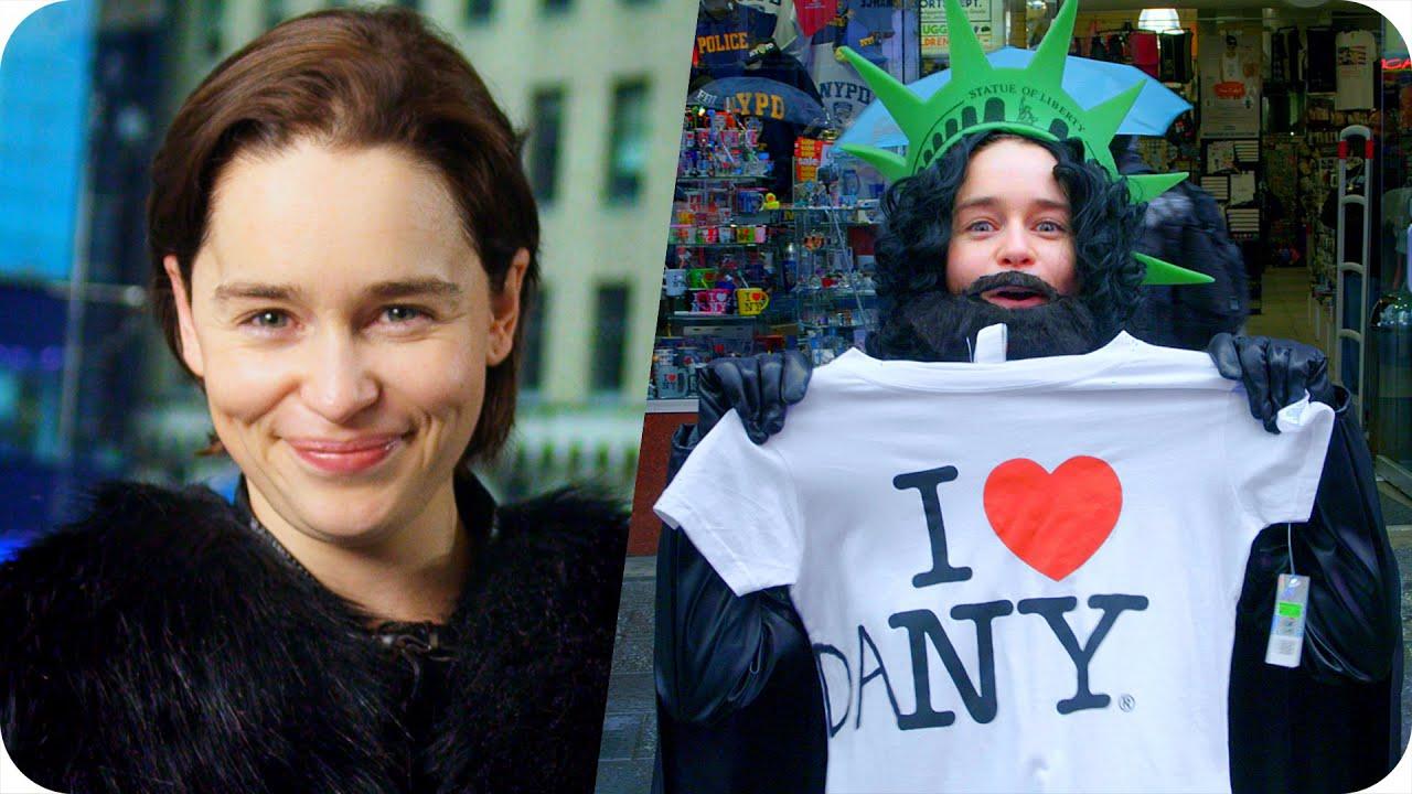Emilia Clarke Pranks Times Square as Undercover Jon Snow (Game of Thrones) // Omaze