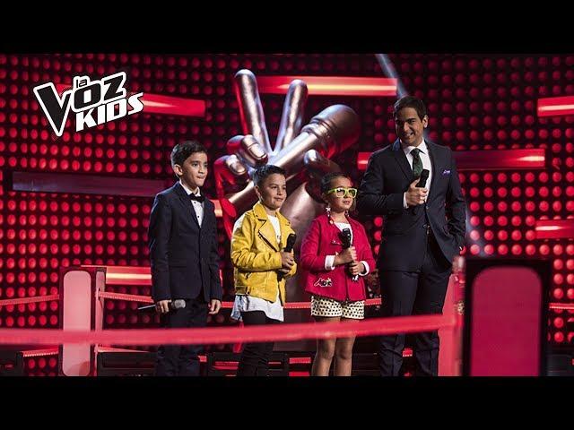 Jorge, Monserrat y Juanse cantaron en la Súper Batalla de Yatra   La Voz Kids Colombia 2018