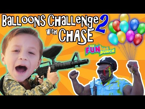 Thumbnail: CHASE & PAPA CANDY BALLOON GUN CHALLENGE w/ OFFICE BUFF AND THE FUNKEE BUNCH!!!