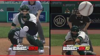 MLB 2K10 - 2K10 vs 2K9 Comparison Video | HD