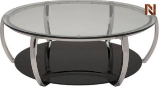 Nuevo Julian Coffee Table Round Polished Stainless Steel Hgta974