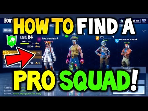 How To FIND The PERFECT SQUAD In Fortnite Battle Royale - Avoid Scammers And GET THEM WIN STREAKS!