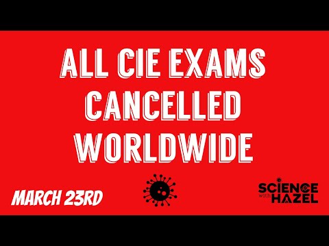 ALL CIE EXAMS CANCELLED WORLDWIDE!