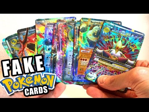 OPENING FAKE POKEMON CARDS BOOSTER BOX! - POKEMON PACKS!