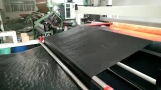Car floor mat hot melt film laminating mchine
