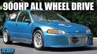 """homepage tile video photo for 900HP AWD Turbo K20 Honda Civic Review! """"The Green Dragon"""""""
