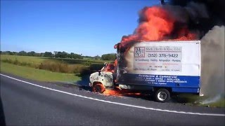Working Box Van Vehicle Fire HD