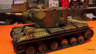 Розпакування танка Torro Russia КВ-2 (пневматична гармата) [rc-today.ru]