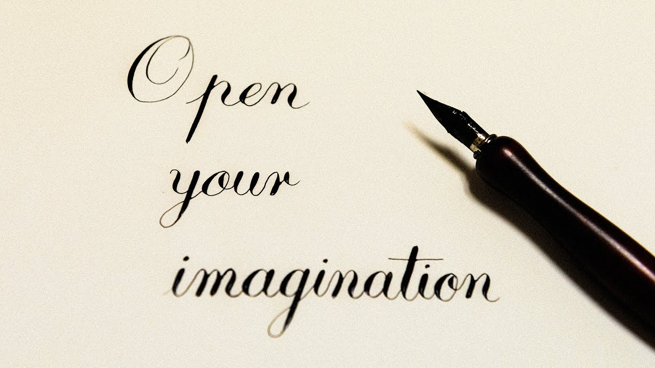 Dip pen calligraphy open your imagination youtube Calligraphy youtube