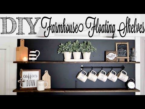 DIY Easy Farmhouse Floating Shelves
