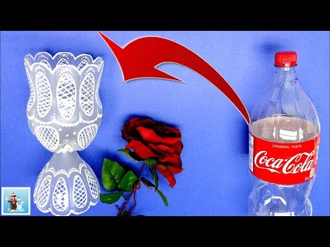 How to Reuse Plastic Bottle and Make a Charming Vase | Best Out of Waste Craft Ideas