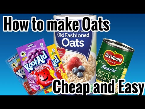 How To Make Cheap Carp Bait. (Oats)