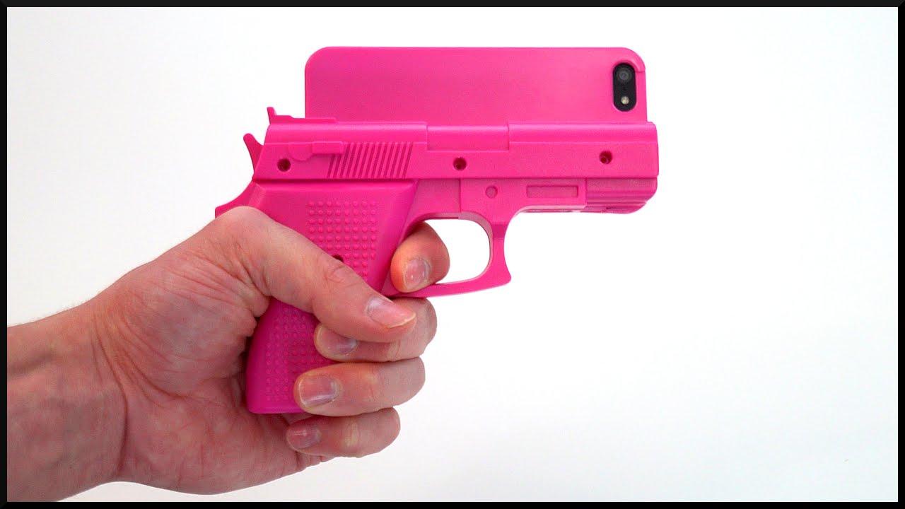 buy popular a24df ec8cf Pink iPhone GUN CASE?!