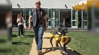 Jeff Bezos with dog, robot-beer pong and vest for deaf people: MARS 2018