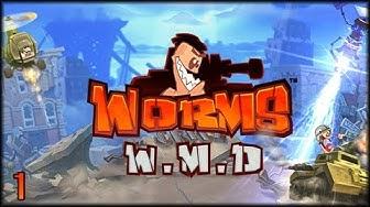 Worms W.M.D - Massenschlachtung! 6 Spieler - 48 Würmer :D  [ deutsch   gameplay ]