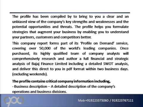 SWOT Analysis Review on Bajaj Finance Limited (BAJFINANCE)