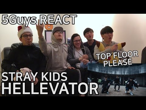 [DOPE DROP] Stray Kids - Hellevator (5Guys MV REACT)
