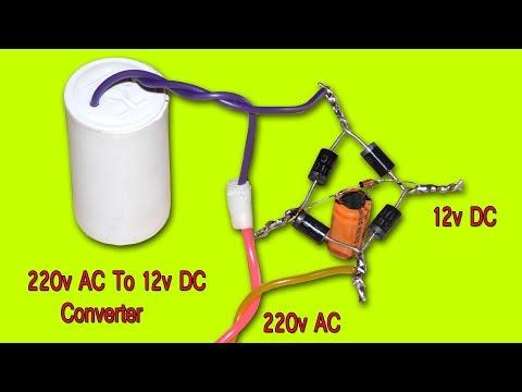 Fan Capacitor Using 220v Ac To 12v Dc Converter