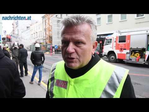 Baugerüst in Linz eingestürzt