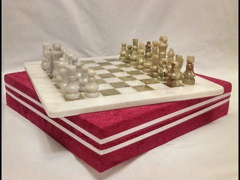 Шахматы из ОНИКСА и МРАМОРА