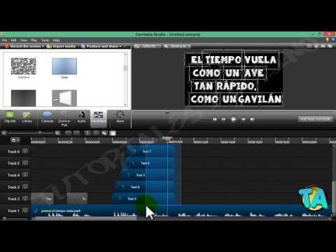 ★ Camtasia Studio 8 | Crear video lyrics para youtube (Video con Letra)