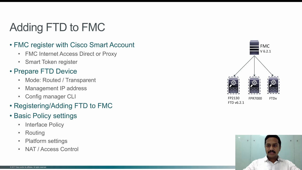 Registering FTD with FMC Part 1