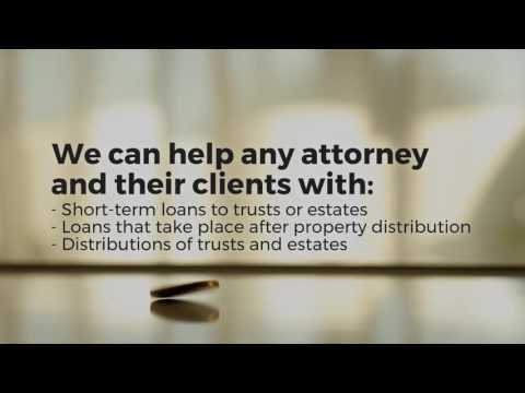 Sophisticated Trust and Estate Loans Made Simple - First Probate Loans