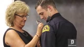 Dallas Police recruits receive badges