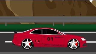 Sport Car race. Auto cartoon - Wyścig samochodowy. Tuning Part1
