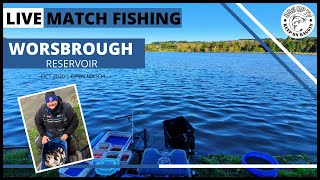 Live Match Fishing Worsbrough Reservoir Open Match Barnsley South Yorkshire BagUpTV Oct 2020