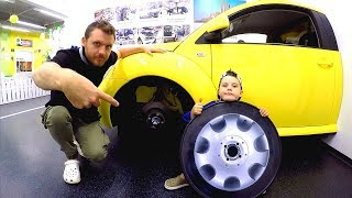 Driving in My Car Song | The Car broken down | Pretend Play Mechanic at Children's Museum
