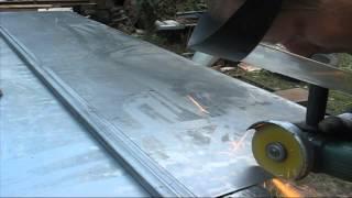 Часть№6 Как резать листовой метал?(В этом видеоролике: Как и чем резать листовой метал для обшивки металлической двери?, 2015-05-03T15:58:06.000Z)