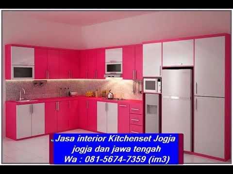 Wa 081 5674 7359 Im3 Jasa Kitchenset Jogja Interior Desain Kitchen Set Aluminium Minimalis Desain