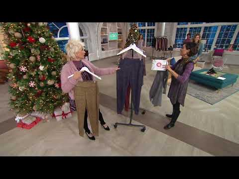 LOGO by Lori Goldstein Sweater Knit Joggers with Zipper Detail on QVC