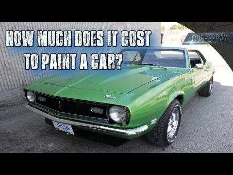 Paint Job Cost >> How Much Does It Cost To Paint A Car Youtube