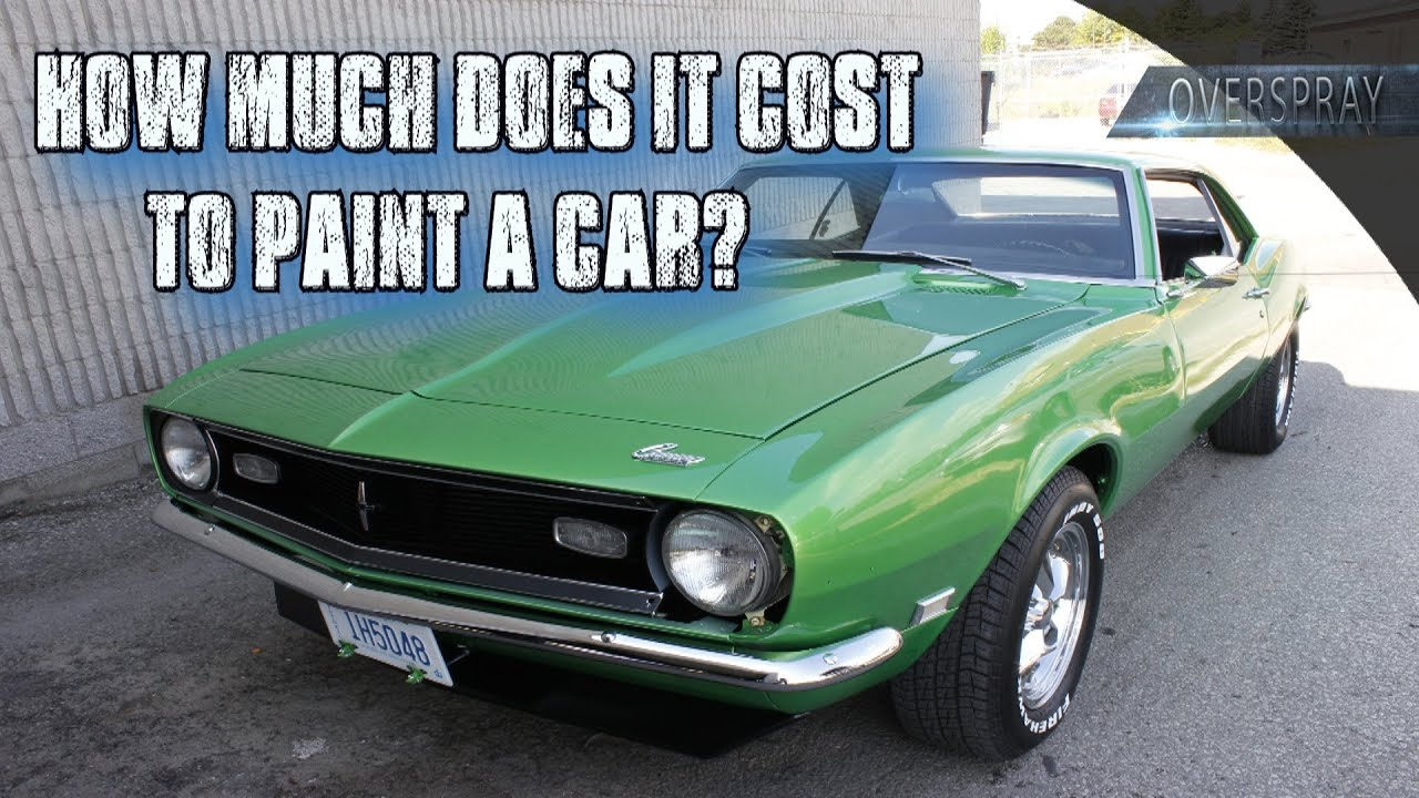 How Much Does It Cost To Paint A Car?