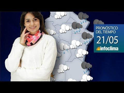 Pronóstico para el 21 de mayo de 2019. Argentina - Infoclima TV