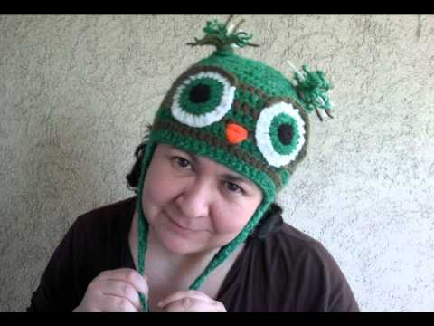 How To Crochet Owl Earflap Hat Easy Pattern Size Baby To Adult On