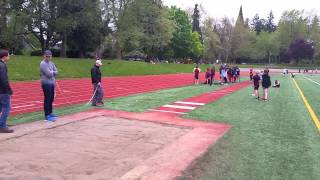 joelle gets 12 feet 9 inches in long jump