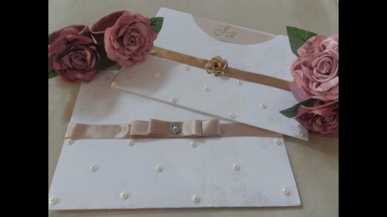 Como Fazer Convite De Casamento Com Rosas Laco Chanel E Perolas