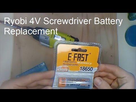Ryobi 4V Screwdriver Battery Replacement