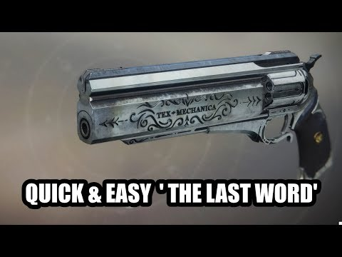 QUICK & EASY 'The Last Word' Exotic, Solo Quest Guide | Destiny 2