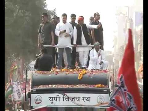 Shri Akhilesh Yadav , Rahul Gandhi Road Show at Varanasi