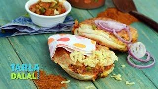 Pav Bhaji Burger By Tarla Dalal