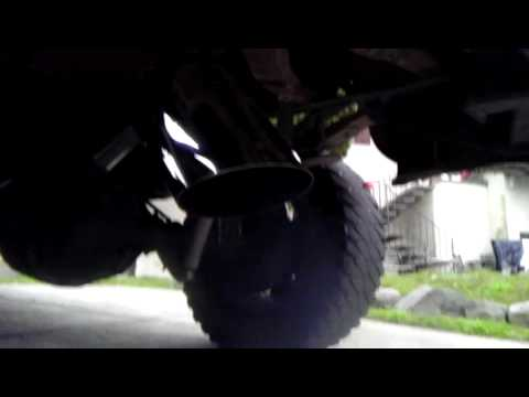 Diesel Exhaust Tip >> 10 inch diesel tip dumped over the diff exhaust - YouTube