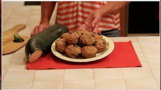 Baseball Bat Zucchini = Healthy Zucchini Blueberry Muffins!
